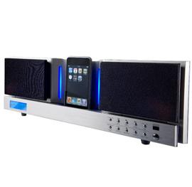 Iphone Ipod højttaler FM radio - Iphone Ipod højttaler FM radioDigital FM radio med fjernbetjeningAux indgang til f.eks telefon, mp3 afspillerDigital ur med alarm, Kan bruges som clock radio.