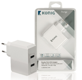 Dobbelt Port USB vægoplader