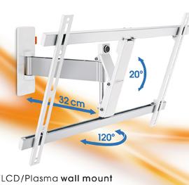 Vægbeslag til store tv - Vægbeslag til store tv  Vægbeslag til store tv, Vogels Wall 2325, er et virkelig lækkert og elegant drejbar vægbeslag til tv fra ca 40 tommer og op til 65 tommer. Tv kan tiltes op til 20 grader og dreje op til 120 grader på dette beslag for bedre synsvink